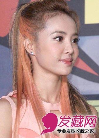染发颜色 > 蔡依林发型 今年最in的渐变色染发发型    齐刘海十分减龄