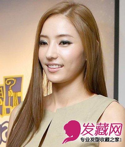 韩国女星韩彩英发型 韩式气质减龄发型