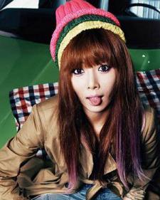 4Minute金泫雅发型 潮女款韩式染色发型