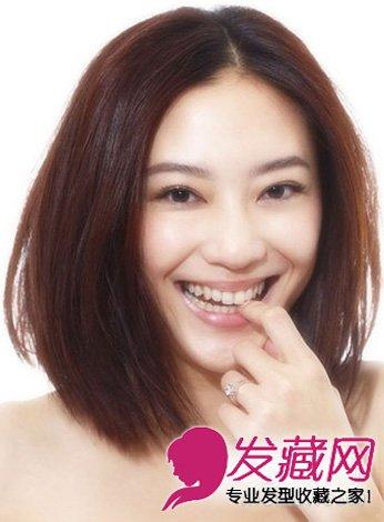 应采儿发型 圆脸女生的减龄发型图片