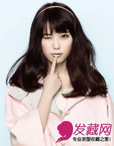 韩国萌系女明星iu发型 巧用发型修饰圆脸
