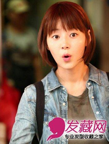 韩国明星中短发发型_【图】韩国女明星韩智慧发型大全_韩式发型_发藏网