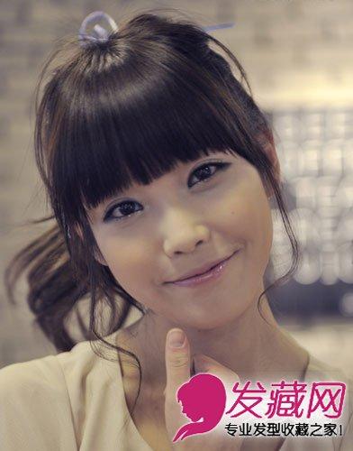 国民妹妹iu发型 圆脸女生适合的发型