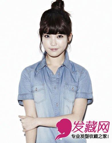 发型 李智恩/国民妹妹IU示范圆脸女生适合的发型