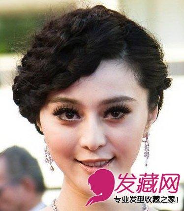 复古的整齐弯曲刘海,酷似旧上海红极一时的歌姬,盘发藏在脑后图片