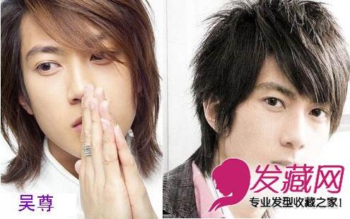 江疏影跑男发型         吴尊:长头发的吴尊看起来相当一样平常,见了图片