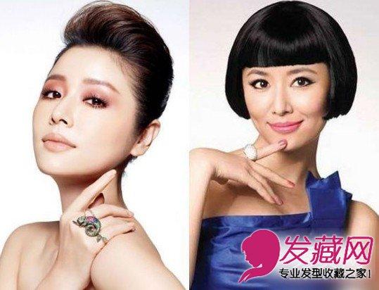 明星露额与刘海发型 谁的脸型更完善