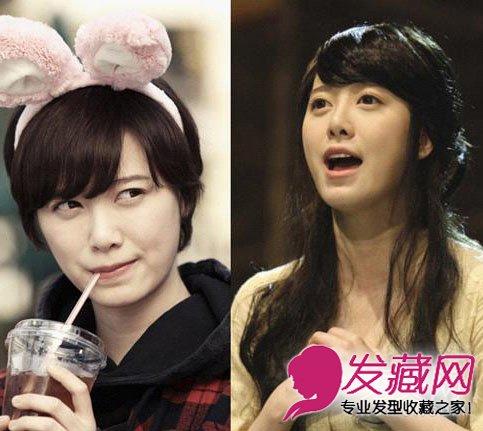 韩国明星短发长发差异味