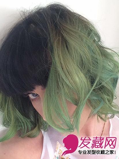 水果姐katy perry_【图】不要绿帽子要绿发 水果姐这头抹茶绿的发型_染发颜色_发藏网
