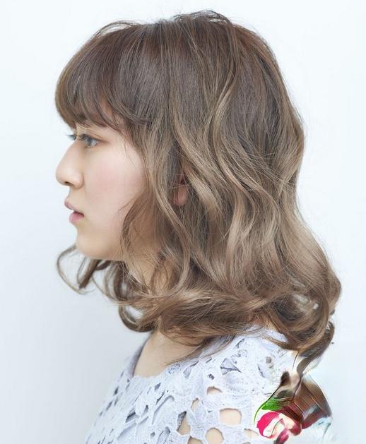齐肩中长短发lob头 知性气质女生发型图片