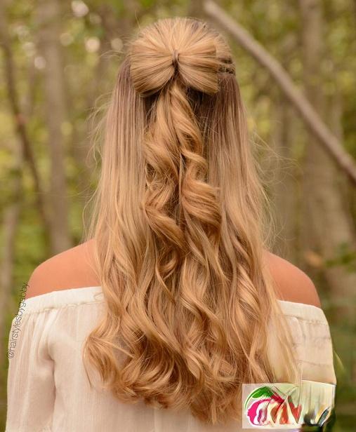 扎个头发变仙女 半扎发女神发型图片大全