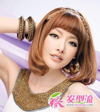 中短发卷发发型 中短发卷发发型图片 3图片