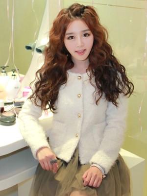 2015年韩国流行发型 女生卷发令人心醉图片