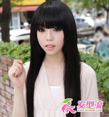 我妹妹是长发,是直发不要烫,要有个刘海,剪什么发型先图片