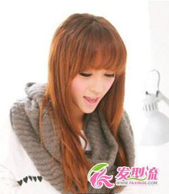 发型网 发型设计 直发发型 > 直发刘海发型图片 灵动气质美女发型(3)图片
