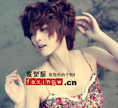 宝女郎隋俊波质感卷短发,奢华的头发颜色,大气优雅,靓丽清新,气质独特