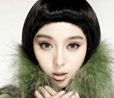 导读:将范冰冰塑造成芭比娃娃的非主流假发, 沙宣 发型的前卫感短发图片