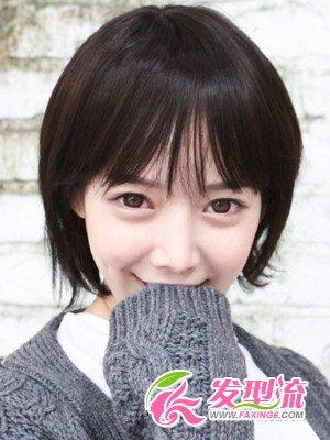 韩式女生秋冬季短发发型图片大全图片