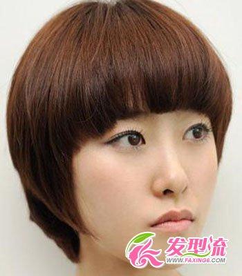 蘑菇头短发发型图片 引领时尚风(3)
