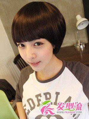 俏丽蘑菇式发型图片