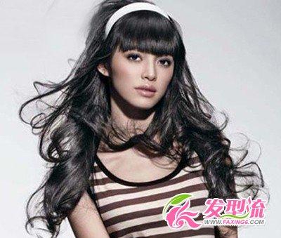 【图】女明星演绎清纯可爱刘海发型(4)