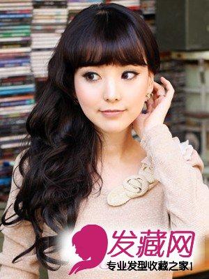 6款圆脸女生发型 日式烫发发型(2)图片
