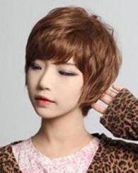 女生纹理烫发型图片 新年新发型