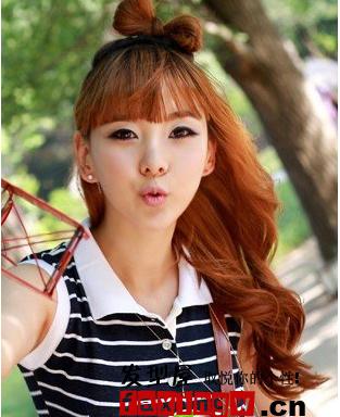 韩国俏女孩美丽发型欣赏图片