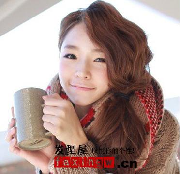 【图】韩国女生烫发发型图片_女生韩式发型_发藏网图片