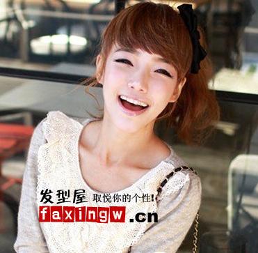 韩国女生烫发发型图片(2)图片
