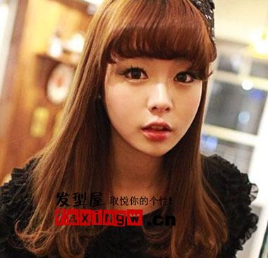 韩式甜美女生发型图片