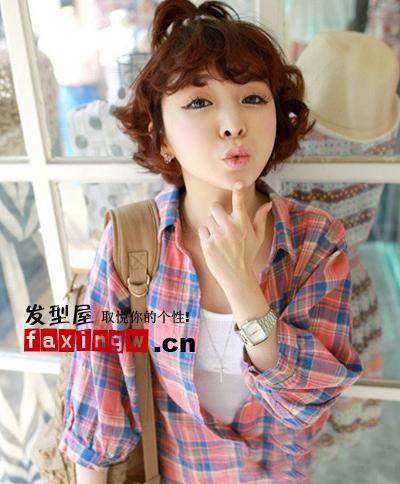 7款粉嫩俏皮韩国可爱女生发型