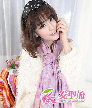 女生中长发烫发发型 新年新气象(4)