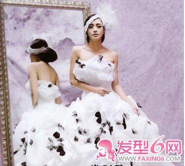 明星演绎唯美婚纱新娘发型(4)图片