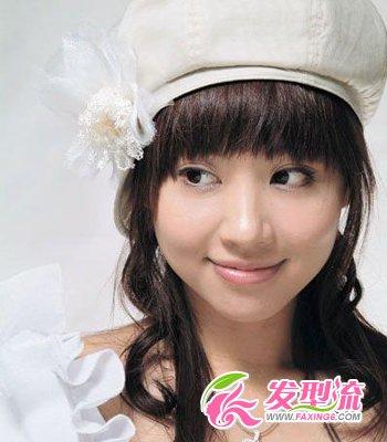 新娘齐刘海发型 演绎唯美童话