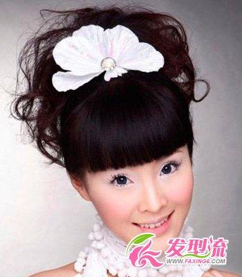 新娘齐刘海发型 演绎唯美童话(3)