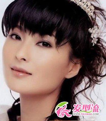 新娘齐刘海发型 演绎唯美童话(5)