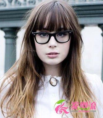 戴眼镜女生发型打造欧美文艺范(3)图片