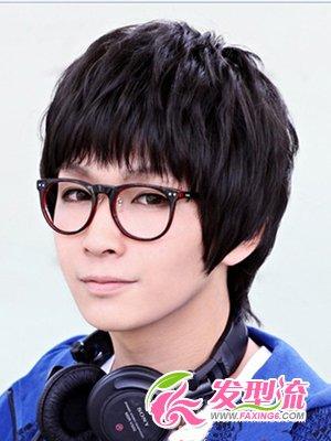 圆脸男士发型设计 圆脸男生短发(3)