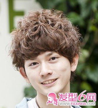 【图】日系男生时尚卷发造型(3)_男生烫发发型_发藏网