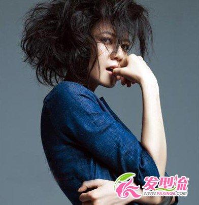 【图】高圆圆凌乱狂野短发造型(3)_短发发型图片_发藏