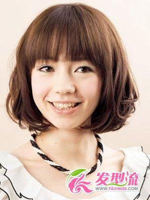 大圆脸发型设计图片 女生短发发型look(3)