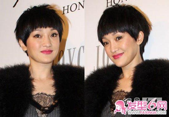 周迅不适合头发太长, 中长发,短发比较适合她.