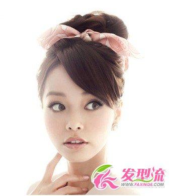 头发造型 丸子头发型扎法(2)图片