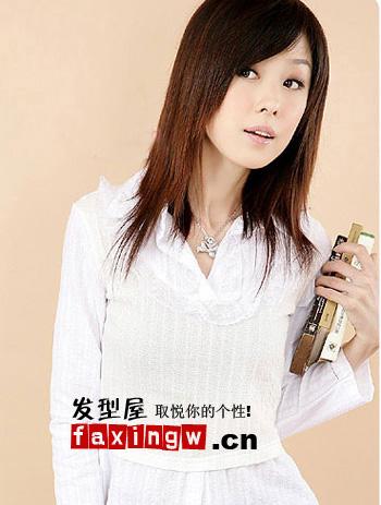 优雅俏皮 十款韩国女生直发(5)图片