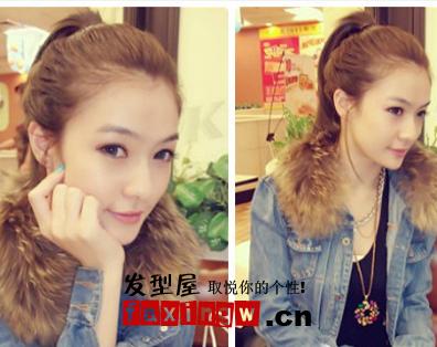小女生冬季发型 俏皮可爱(4)