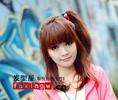 【图】可爱女生适合的发型图片(2)