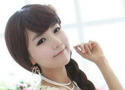 桃型刘海长发发型分享展示
