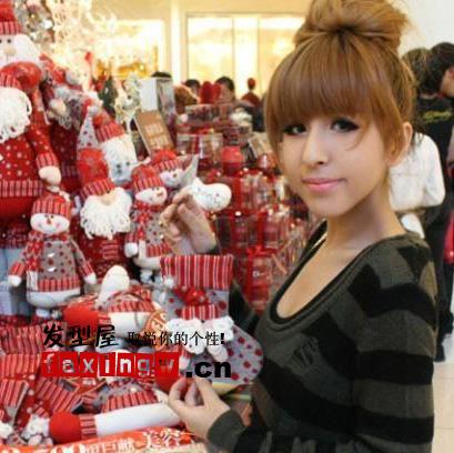 新疆大美女希琳娜冬季发型搭出可爱(5)