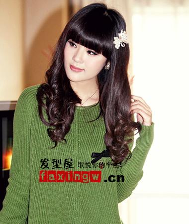 可爱女生卷发发型图片(2)